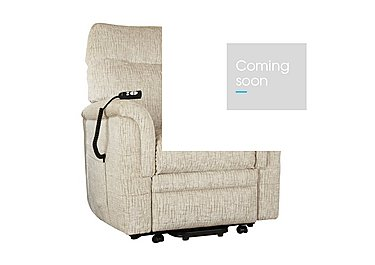 Hudson Fabric Lift and Rise Armchair in Sabrina Beige on FV