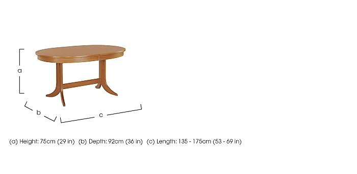 Classic Oval Extending Dining Table in  on FV