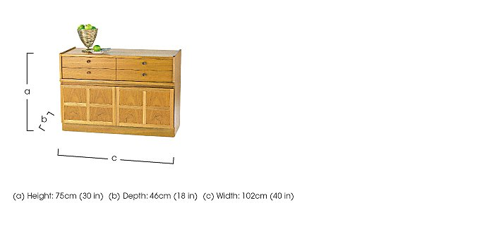 Classic 4 Drawer Mid Storage Unit in  on FV
