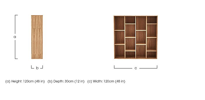 Stack Wide Bookcase in  on Furniture Village