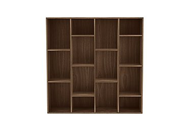 Stack Wide Bookcase in Dark Oak on FV