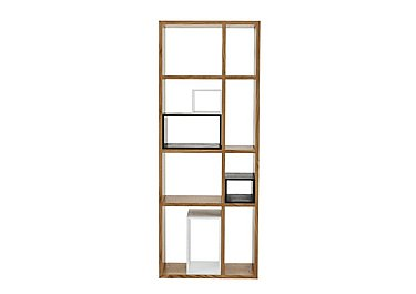 Pelham Large Shelving Unit in Oak With Black & White Boxes on FV