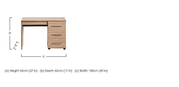 Amari Single Pedestal Dressing Table in  on FV