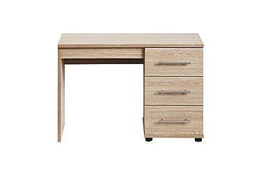Amari Single Pedestal Dressing Table in Kkv - King Oak on FV