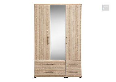 Amari 3 Door Mirrored Gents Wardrobe  in {$variationvalue}  on FV