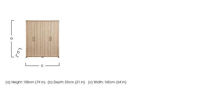 Amari 4 Door Wardrobe in  on Furniture Village