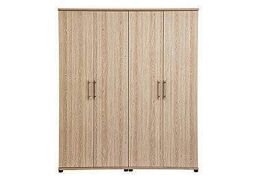Amari 4 Door Wardrobe in Kkv - King Oak on FV
