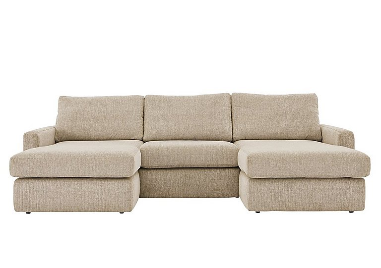 Duo 3 seater double chaise furniture village for Two seater chaise