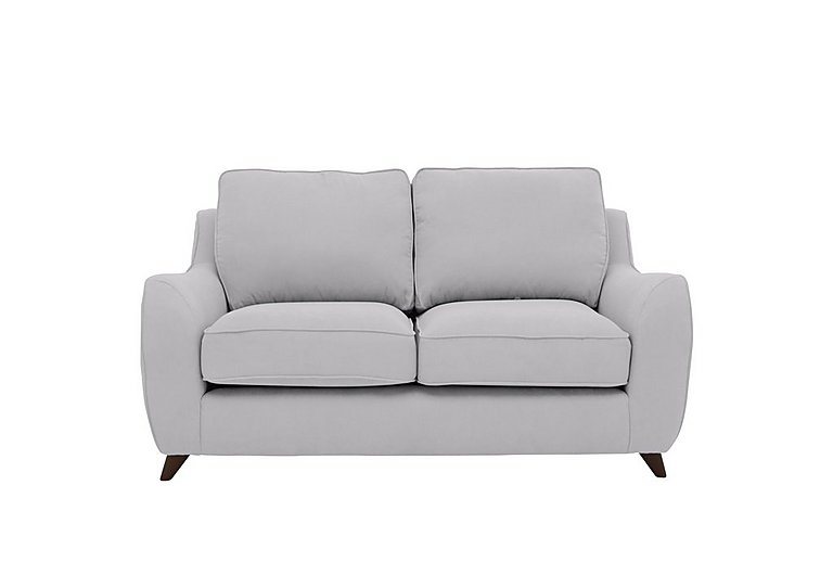 Carrara 2 Seater Fabric Sofa in Cosmo Silver Dark Feet on FV