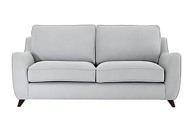 Carrara 3 Seater Fabric Sofa in Cosmo Silver Dark Feet on FV