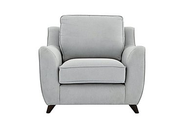Carrara Fabric Armchair in Cosmo Silver Dark Feet on FV