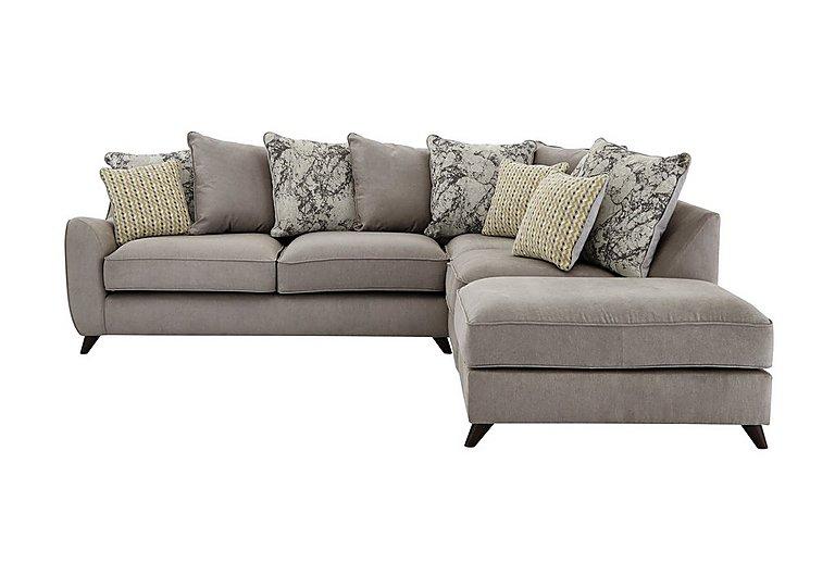 Carrara Fabric Pillow Back Corner Chaise Sofa