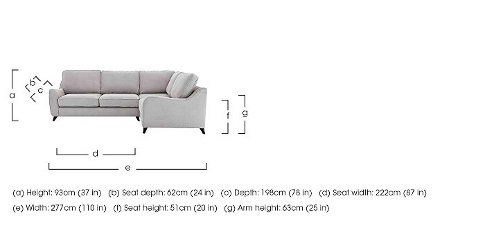 Carrara Fabric Corner Sofa in  on FV