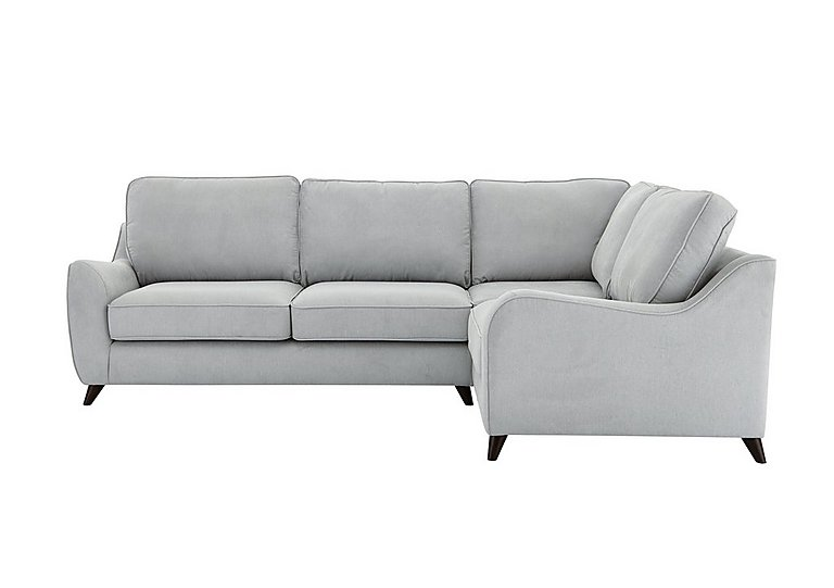 Carrara Fabric Corner Sofa in Cosmo Silver Dark Feet on FV