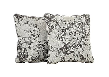 Carrara Pair of Scatter Cushions in Marble Mist on FV