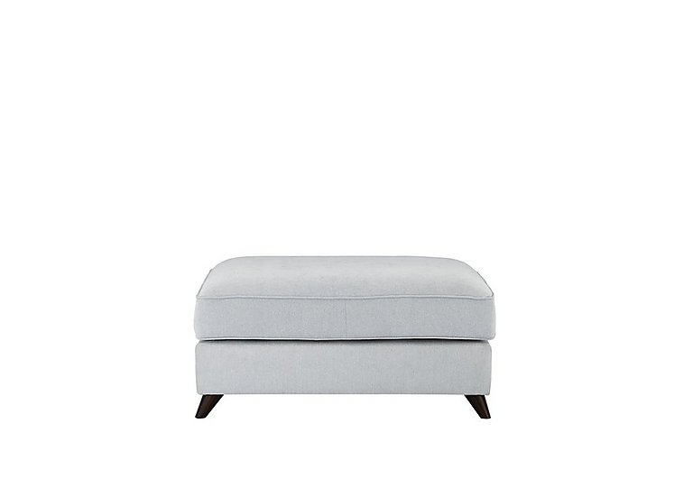 Carrara Fabric Footstool in Cosmo Silver Dark Feet on FV