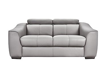 Elixir 2 Seater Leather Recliner Sofa in Nc946b Feather Gray See Comms on FV