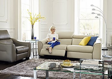 Elixir 3 Seater Leather Recliner Sofa in  on FV