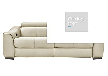 Elixir 3 Seater Leather Recliner Sofa in Bv3550 Light Beige See Comment on FV