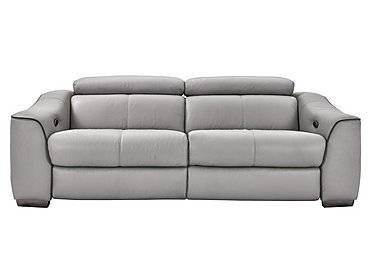 Elixir 3 Seater Leather Recliner Sofa in Nc946b Feather Gray See Comms on FV