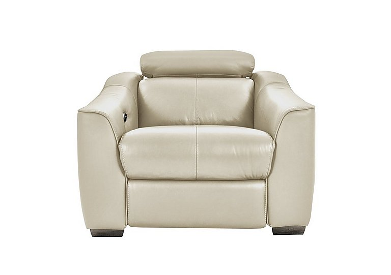 Elixir Leather Recliner Armchair in Bv3550 Light Beige See Comment on FV