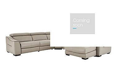 Elixir Leather Recliner Corner Sofa in Nc946b Feather Gray See Comms on FV