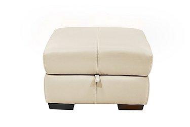 Elixir Leather Storage Footstool in Bv3550 Light Beige See Comment on Furniture Village
