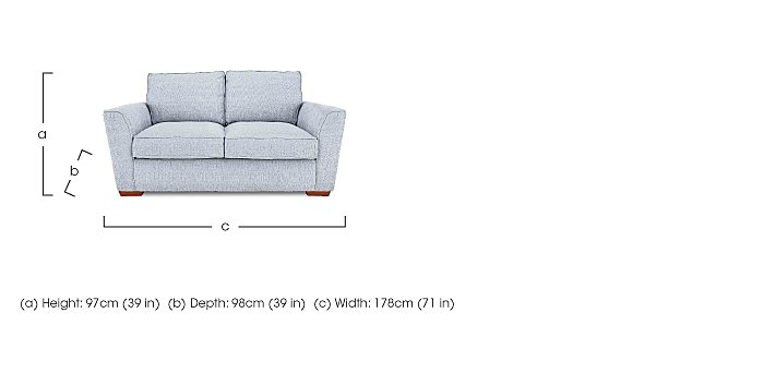 Fable 2 Seater Fabric Sofa in  on FV