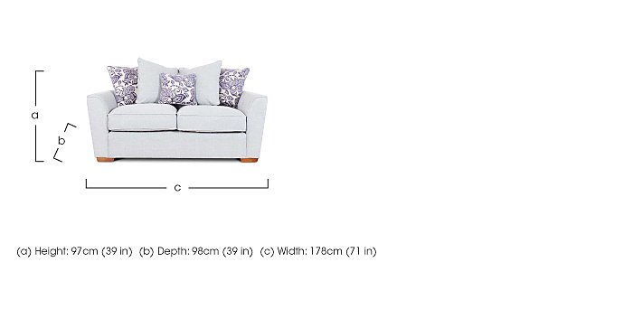 Fable 2 Seater Fabric Pillow Back Sofa in  on Furniture Village