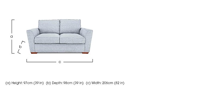 Fable 3 Seater Fabric Sofa in  on FV