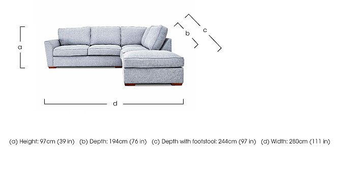 Fable Fabric Corner Sofa  in {$variationvalue}  on FV