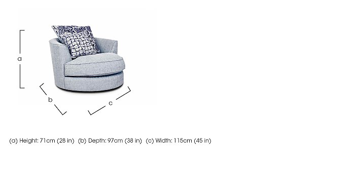 Fable Fabric Swivel Armchair in  on FV