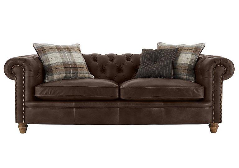 New England Newport 4 Seater Leather Sofa Furniture Village