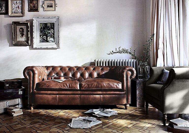 Furniture Village Guildford new england newport 3 seater leather sofa - furniture village