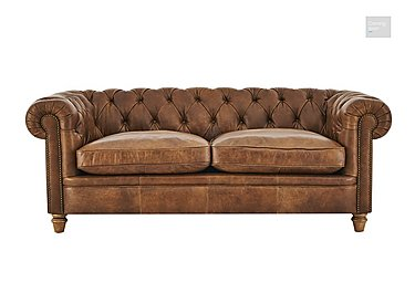 New England Newport 3 Seater Leather Sofa  in {$variationvalue}  on FV