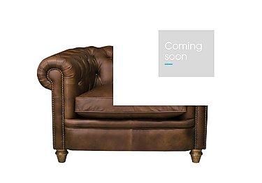 New England Newport Leather Armchair in Cal Original W-Oak Feet on FV