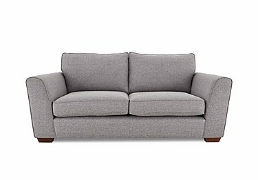 High Street Oxford Street 2 Seater Fabric Sofa Bed in Salta  Ash on FV