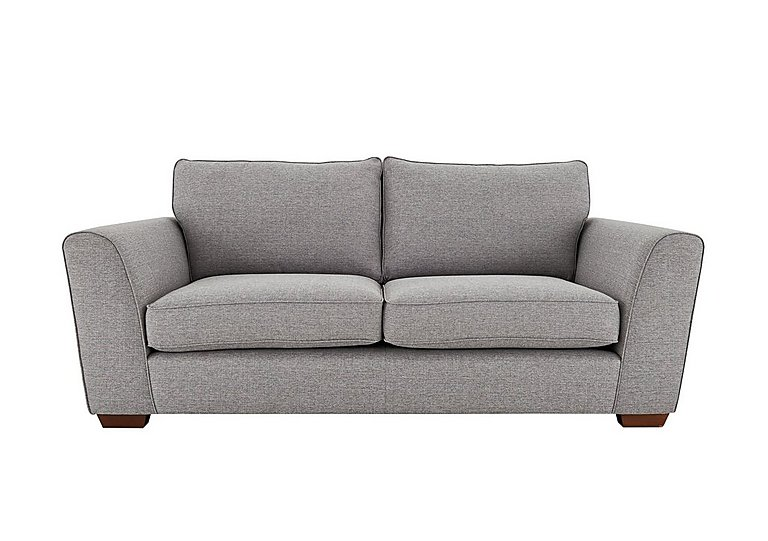 High Street Oxford Street 3 Seater Fabric Sofa in Salta  Ash on Furniture Village