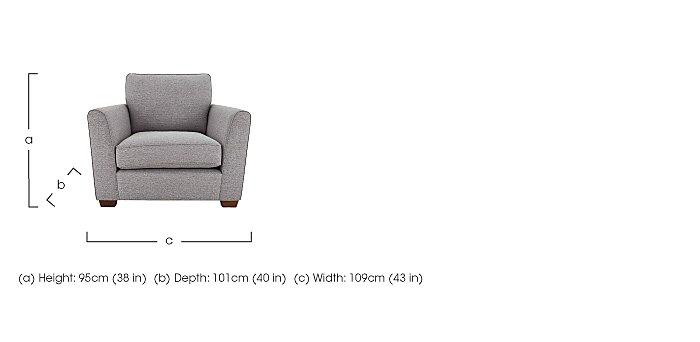 High Street Oxford Street Fabric Armchair in  on Furniture Village