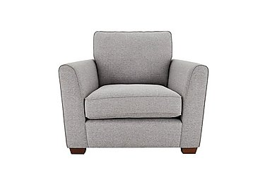 High Street Oxford Street Fabric Armchair in Issy Silver on Furniture Village