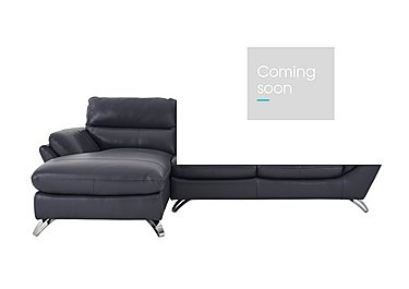 Salvador Leather Corner Chaise in 200/37 Atlantic Heather on FV