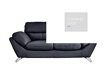 Salvador 3 Seater Leather Sofa in 200/37 Atlantic Heather on FV