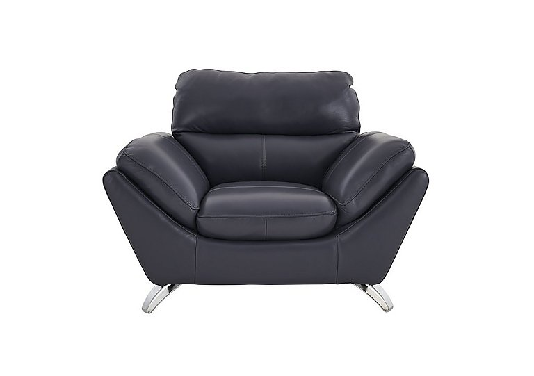 Salvador Leather Armchair in 200/37 Atlantic Heather on FV