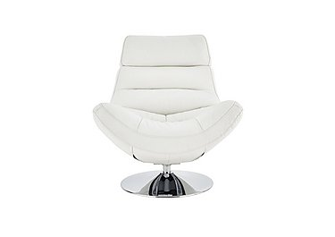 Salvador Leather Swivel Armchair