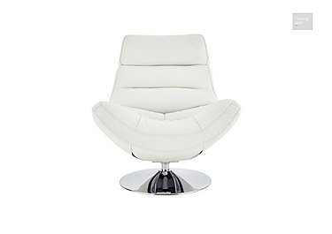 Salvador Leather Swivel Armchair  in {$variationvalue}  on FV