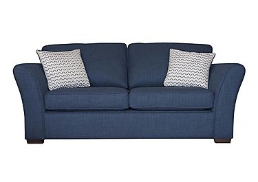 Twilight 2 Seater Fabric Sofa Bed in Lily Navy - Dark Feet on FV