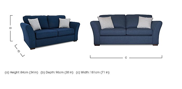 Twilight 2 Seater Fabric Sofa in  on FV