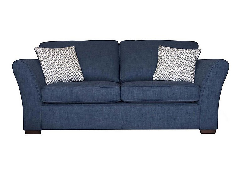 Twilight 2 Seater Fabric Sofa in Lily Navy - Dark Feet on FV