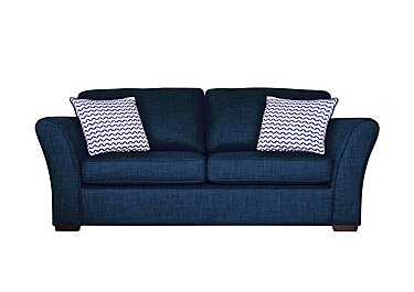 Twilight Small 2 Seater Fabric Sofa in Lily Navy - Dark Feet on FV