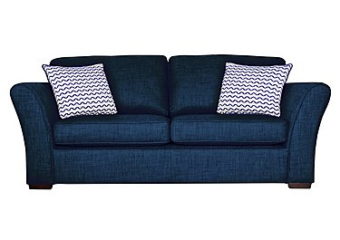 Twilight 3 Seater Fabric Sofa Bed in Lily Navy - Dark Feet on FV